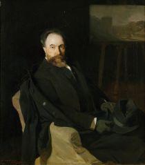 De schilder Aureliano de Beruete, door Joaquin Sorolla, een kunstwerk dat door de weduw, Maria Teresa Moret, van de geportretteerde is geschonken aan het M.A.M.