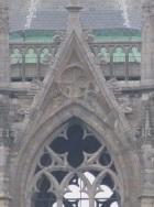 Twee driehoeken in het maaswerk van een venster, Dom van Utrecht