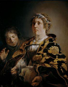 Judith met het hoof van Holofernes, van Salomon de Bray.