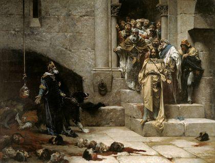 De bel van Huesca. Bovenal dat het een meesterwerk van de auteur, José Casado del Alisal is, is het ook één van de meest beroemde schilderij van de Spaanse geschiedenis van de negentiende eeuw, in 1950 werd het door het Museum voor Moderne Kunst overhandigd aan het gemeentehuis van Huesca, waar sindsdien verblijft.