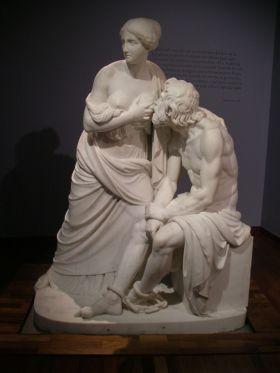 Romaanse liefdadigheid (la Caridad romana) 1851 van Antonio Solá