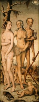 De leeftijden en de dood, (1541 - 1544) van Hans Baldung Grien.