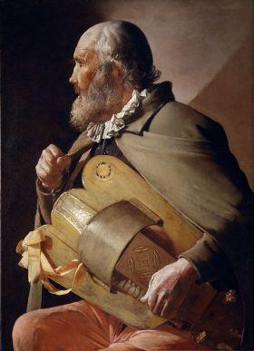 De blind draailier speler, 1610-1630, Van George de la Tour