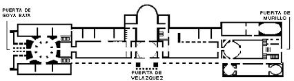 De plattegrond van het Prado.