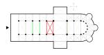 afkomstig van Wikipedia Commons(http://commons.wikimedia.org/wiki/Image:Church-plan.png), oorspronkelijke auteur: Lusitana zelf arceringen aan toegevoegd