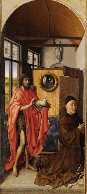 San Juan en de meester Enrique Werl, Robert Campin, 1438.