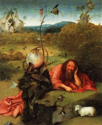 Heilige Johannes de Doper in de wildernis ca. 1489 (Museo Lázaro Galdiano, Madrid)