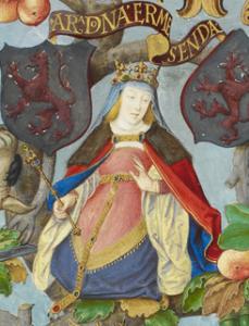 Ermesinda de Asturias, vrouw van Alfonso I 'el Católico'.