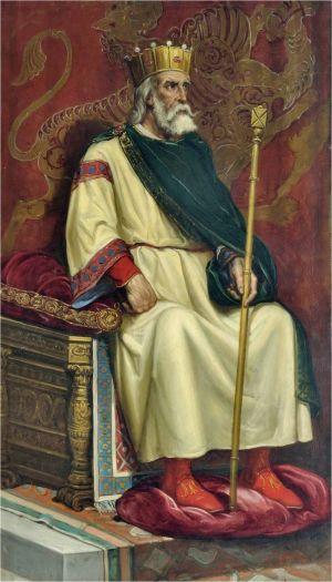 Een schilderij van Ordoño II uit de 19ᵉ eeuw dat in het gemeentehuis van León hangt.