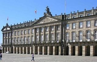Het Palacio de Rajoy de officiële zetel van de regering van Galicia en van de gemeente Santiago de Compostela.