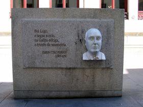 Plakkaat voor Otero Pedrayo.