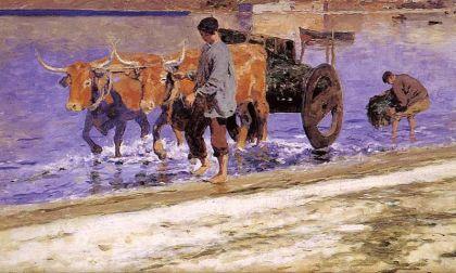 De wagen met zeewier, van de schilder Sefarin Avendaño.