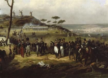 De slag om Elviña in La Coruña, 16 januari 1809.