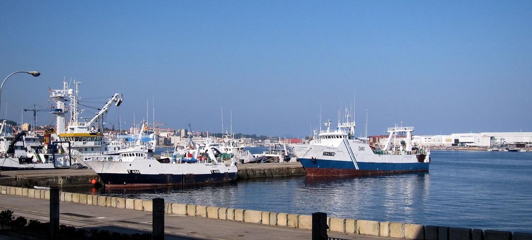 De vissershaven van Vigo.