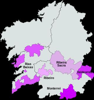Wijnen met het predikaat, Denominacion de Origen de galicia.