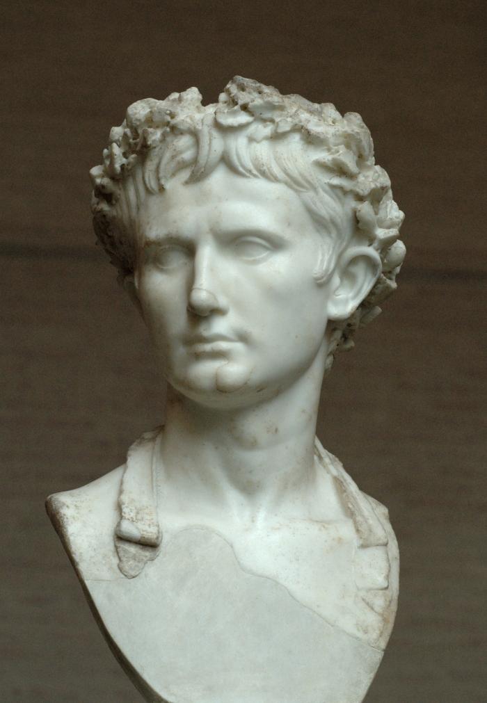 Buste van keizer Augustus, één van de belangrijkste figuren uit de eerste eeuw.