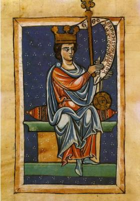 Ordoño III, volgens een middeleeuse afbeelding in de kathedraal van León.