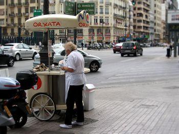 De kiosk waar u een heerlijk verkwikkend glaasje Orchata koopt.