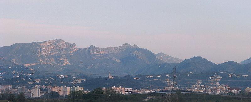 Panorama van Alcira.