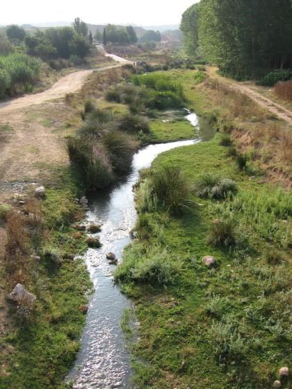 De Magro rivier in de buurt van de stad Requena.