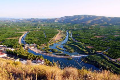 De rivier Júcar bij het Azud de Antella