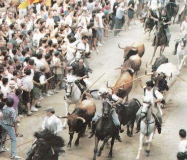Binnenkomst van de stieren en paarden in Segorbe.
