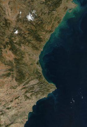 Satelietfoto van de Comunidad Valencia.