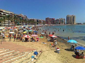 Strand van Torrevieja.