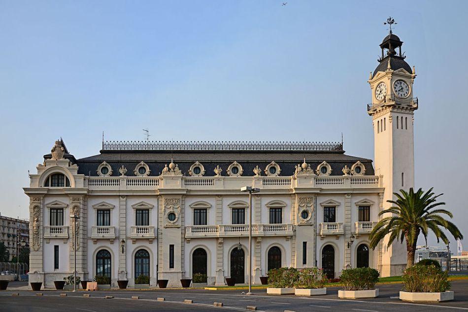 Het hoofdkantoor van het Havenbedrijf van Valencia.