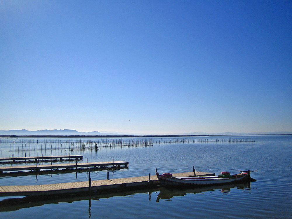Het meer van Albufera van Valencia.