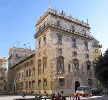 Het Paleis van de Generalitat, het symbool van het herstel van het zelfbestuur in Valencia.