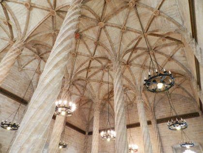 Interieur van de Lonja de la Seda , Valencia