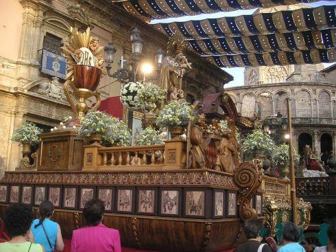 Processie van het Corpus Christi in Valencia.