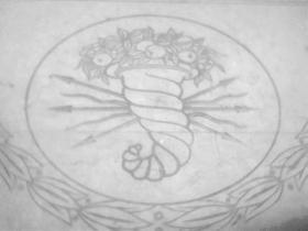 Romeinse hoorn des overvloed, symbool van Valencia.