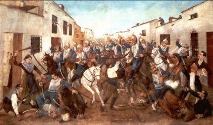Op 6 juni 1808 neemt de bevolking van Valdepeñas de wapens op tegen Napoleon.