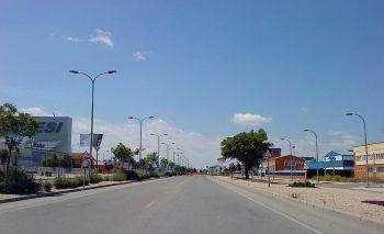 Een bedrijven terrein in Campollano (Albacete). Het grootste van Castilla-La Mancha.