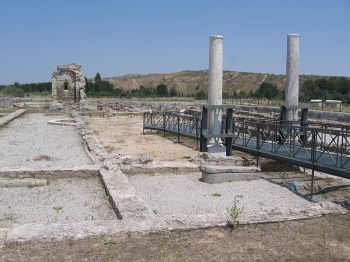Archeologisch park van Carranque in de provincie Toledo.