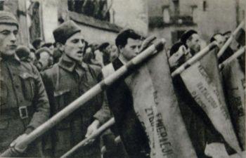 """Albacete was het hoofdkwartier van de """"Brigades Internacionales""""."""