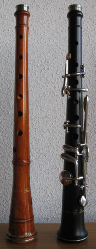 Dulzainas Castellanas zonder sleutels Diatonica en met sleutels Cromatica.