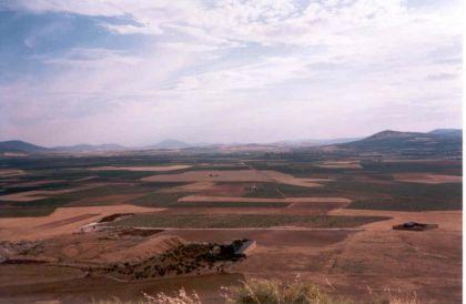 Het zuidelijke deel van de Submeseta, rond Consuegra.