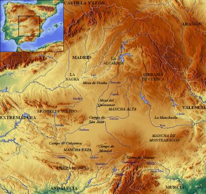 Geologische kaart van La Mancha