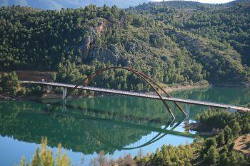 Uitzicht op de rivier de Segura.
