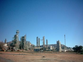 Petrochemische industrie in Puertollano.