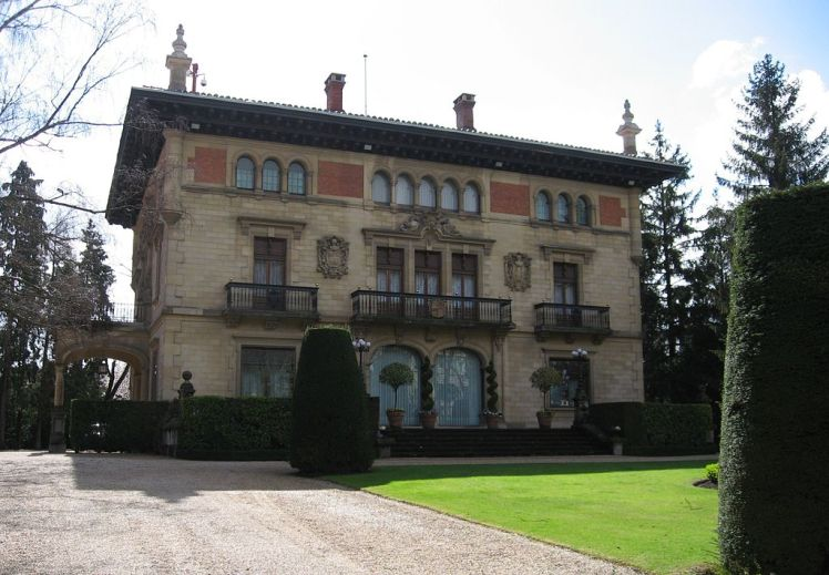 Palacio de Ajuria Enea in Vitoria, recedentie van de Lehendakari van de Baskische regering.