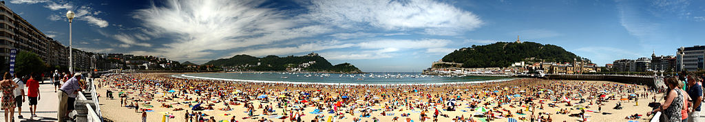 Playa de Cocha (Schelpenstrand), in San Sebastián.