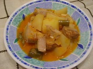 Marmitako de atún, een typisch Baskische schotel.