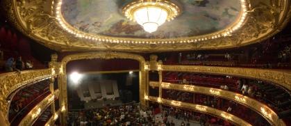 Interieur van het theater Victoria Eugenia, gedurende het filmfestival van San Sebastián.