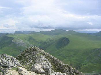 Sierra de Aralar, in het noordoosten van Navarra.