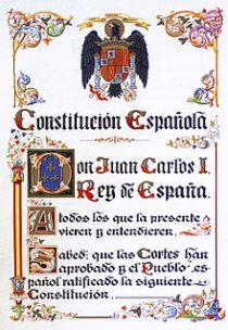 De Spaanse Grondwet van 1978, getekend door Don Juan Carlos I Koning van Spanje.