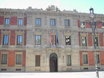 Het gebouw van het Parlement van Navarra.